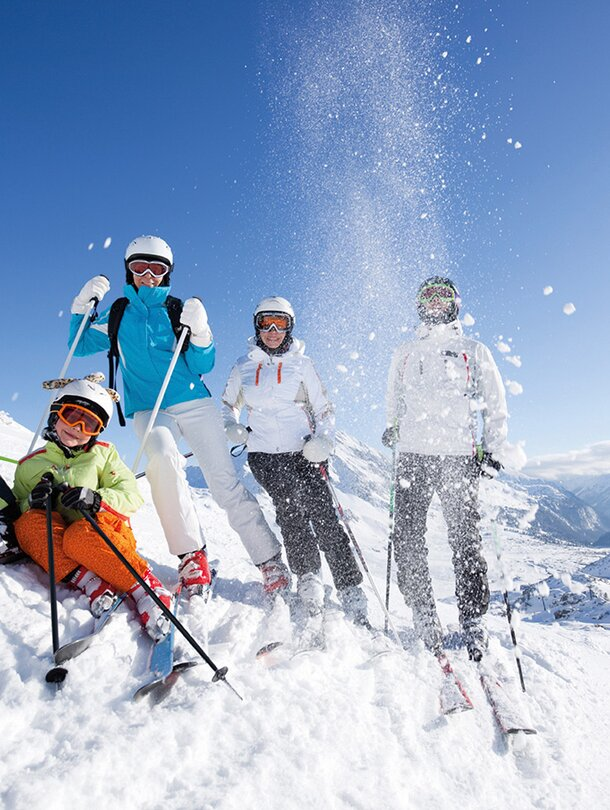 family skiing holiday in the zillertal